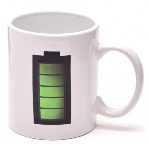 Магическа термо чаша с изображение - батерия