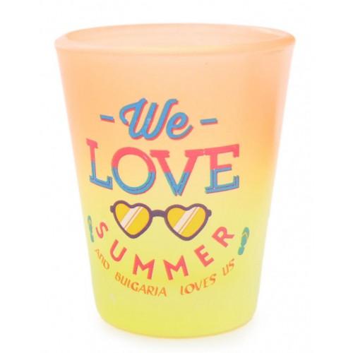 Сувенирна чаша с послание - We love summer and Bulgaria love us