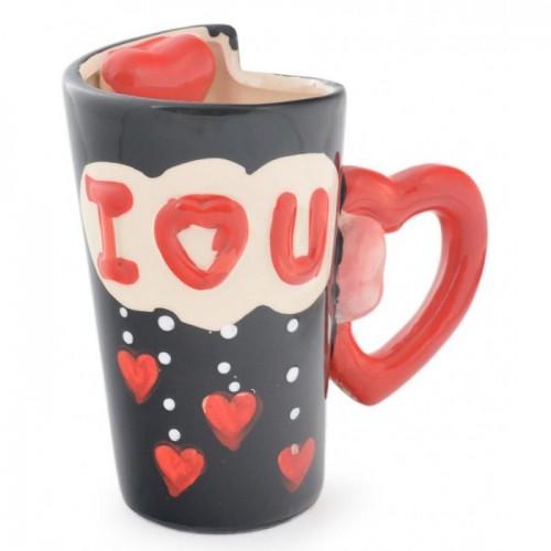 Комплект керамични чаши за влюбени двойки