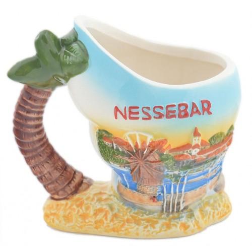 Чаша със забавна форма - раковина с палма