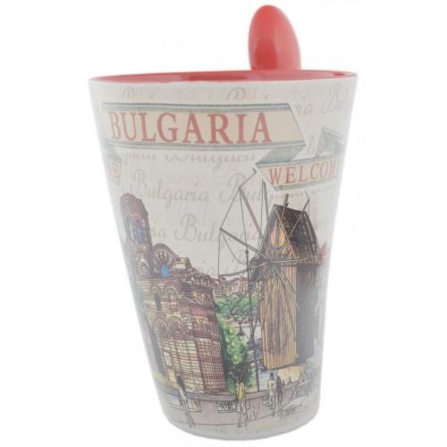 Сувенирна чаша - забележителности от Несебър