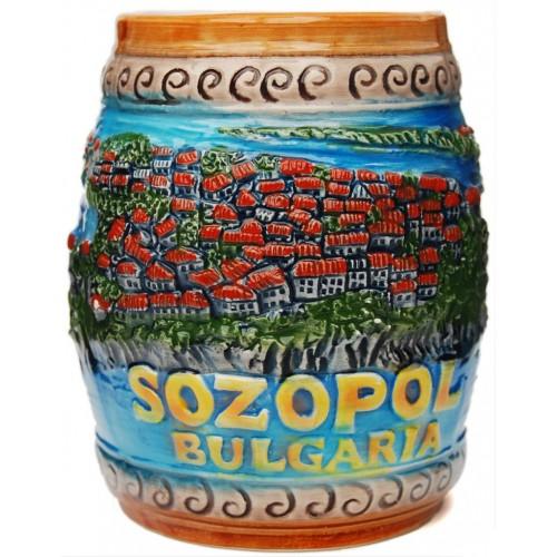 Сувенирна релефна чаша от порцелан - Созопол
