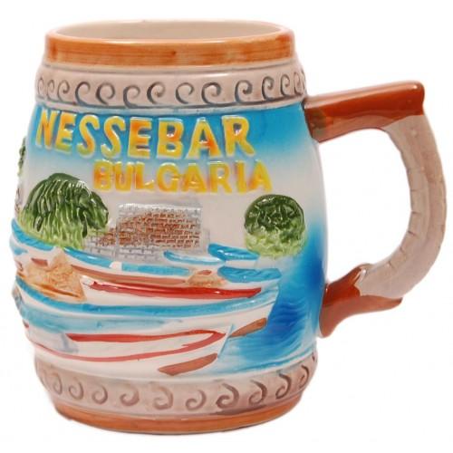 Сувенирна релефна чаша  Капитанска среща- Несебър