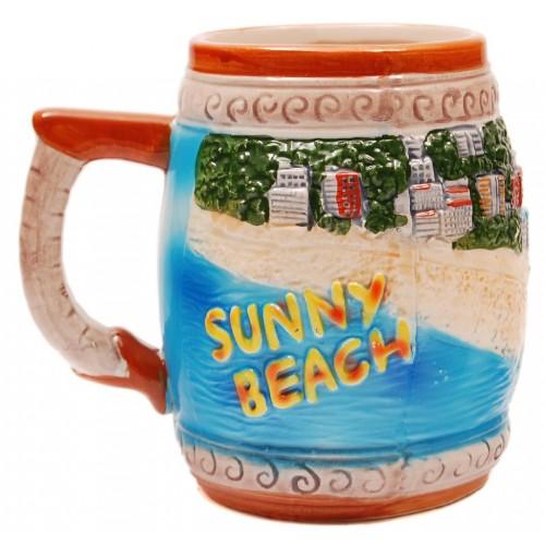 Сувенирна релефна халба от порцелан - Слънчев бряг