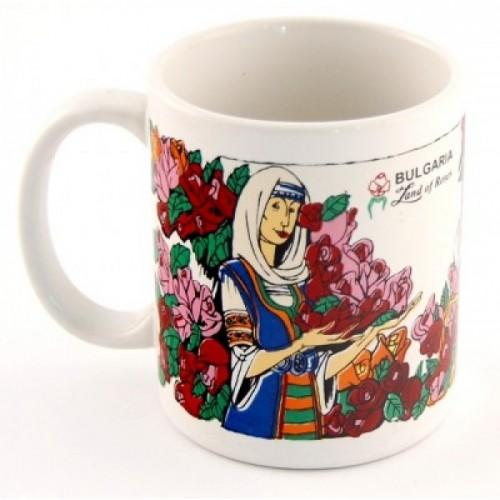 """Сувенирна чаша с цветен принт - """"Розобер"""""""