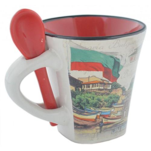 Сувенирна чаша със забележителности от Несебър