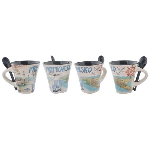 Сувенирна чаша със забележителности от Приморско