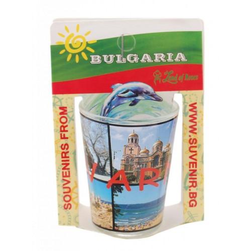 Сувенирен стъклен шот със забележителности от Варна
