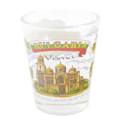 Сувенирна чаша за шот - забележителности от бреговете на Черно море