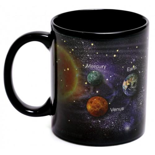 Магическа порцеланова чаша с декорация планети