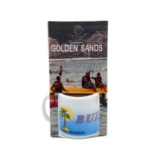 Сувенирна чаша от порцелан - Златни пясъци