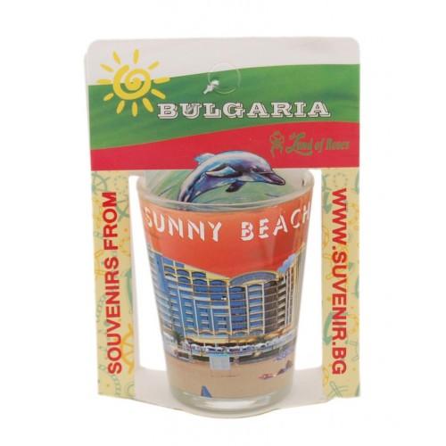 Сувенирна чаша за шот - забележителности в Слънчев бряг