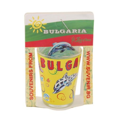 Сувенирна чаша за шот - делфини и рибки, България