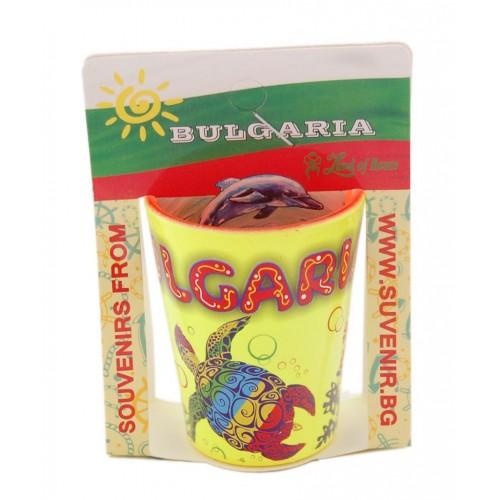 Сувенирна чаша за шот - костенурки, България