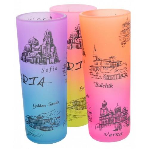 Сувенирна чаша за шот - забележителности от Черноморието и София