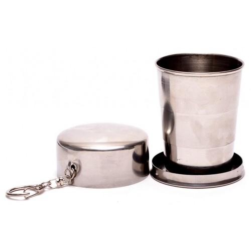 Сувенирна сгъваема чаша от метал с ключодържател