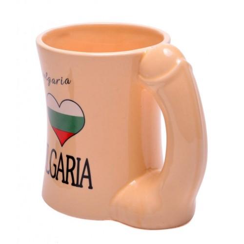 Забавна чаша с дръжка - мъжки полов атрибут