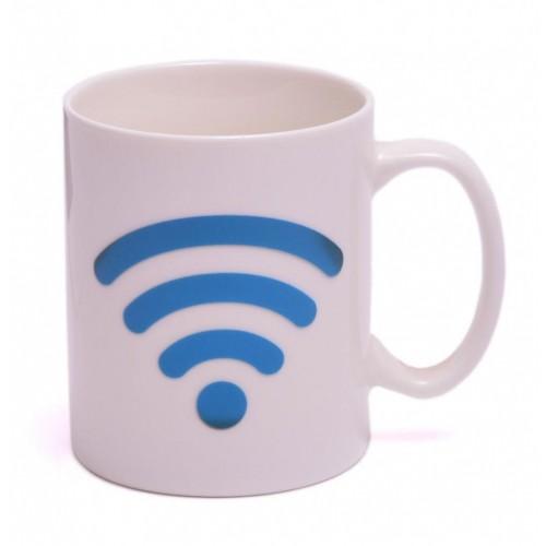 Магическа порцеланова чаша с декорация - Wi-Fi