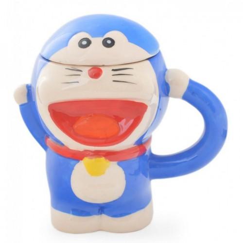 Детска керамична чаша – усмихнато коте с капаче