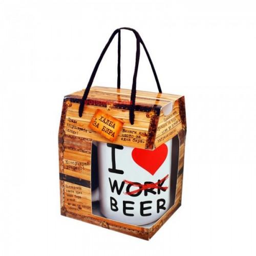 Халба за бира с надпис