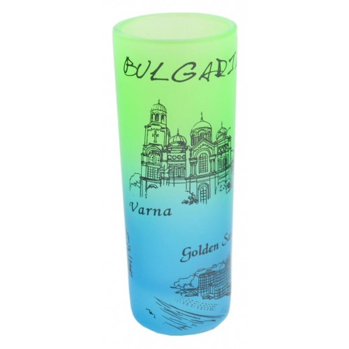 Сувенирна шот чаша със забележителности от Черноморието