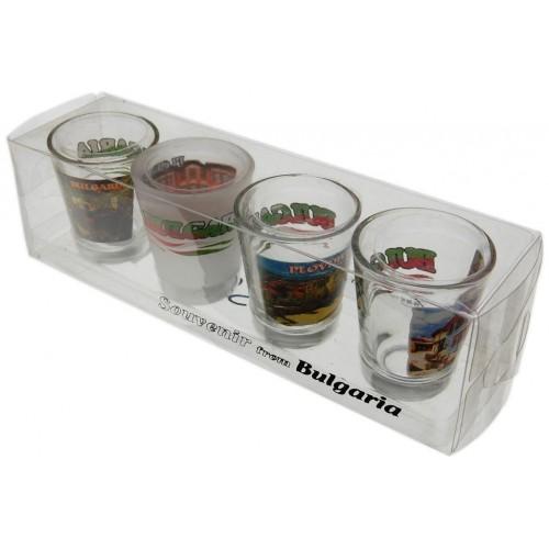 Комплект сувенирни шотове с декорация