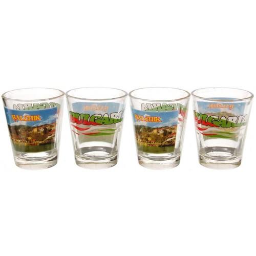 Комплект стъклени сувенирни чаши – Балчик