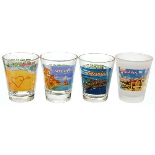 Сувенирни стъклени шот чаши - Созопол
