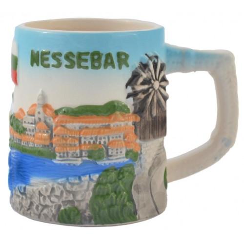 Порцеланова чаша - сувенир от Несебър
