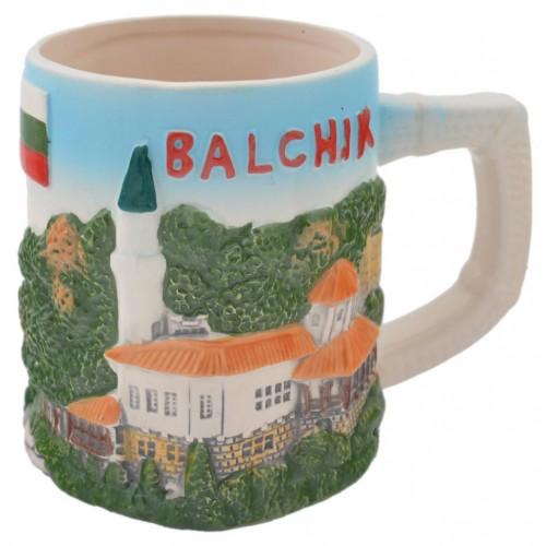 Релефна чаша със забележителности от Балчик