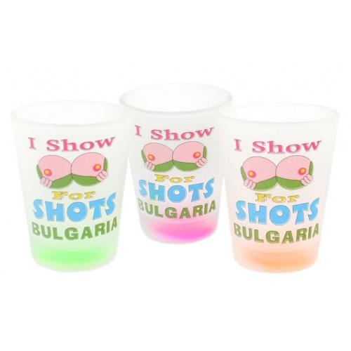 Стъклен сувенирен шот - България