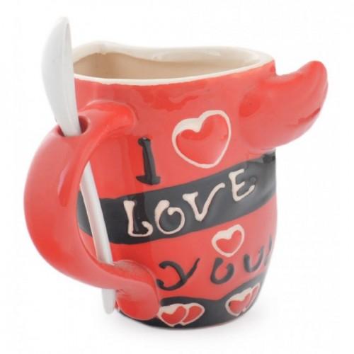 Комплект керамични чаши - в прегръдка