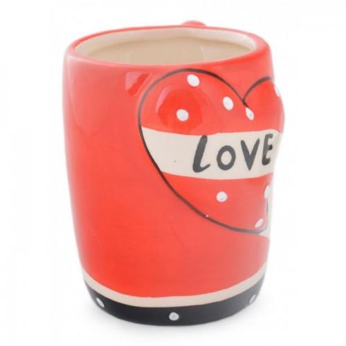 """Керамична чаша с надпис """"I love you"""""""