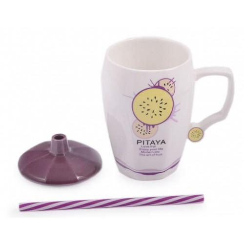 Керамична чаша декорирана с плодче