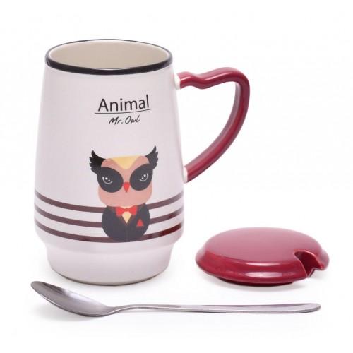 Керамична чаша с декорация животно