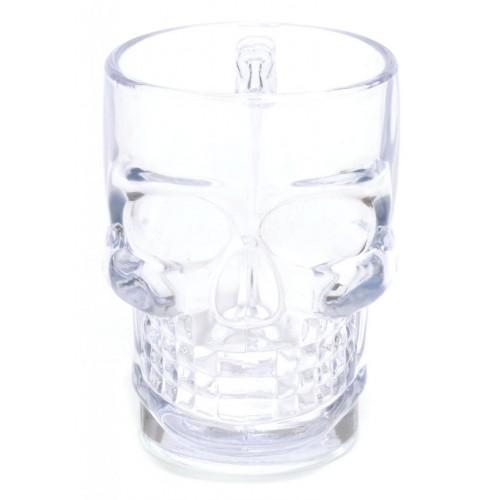 Забавна стъклена чаша за бира във формата на череп
