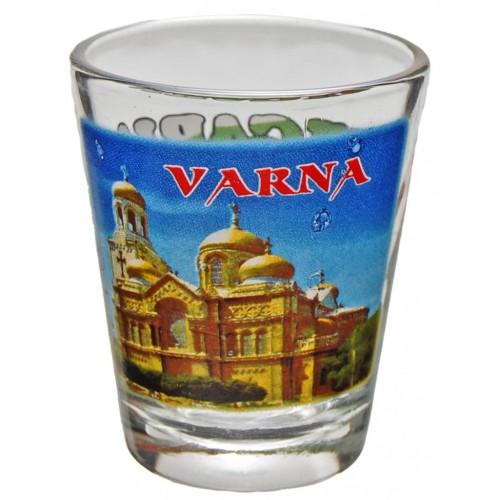 Комплект сувенирни стъклени чаши Варна